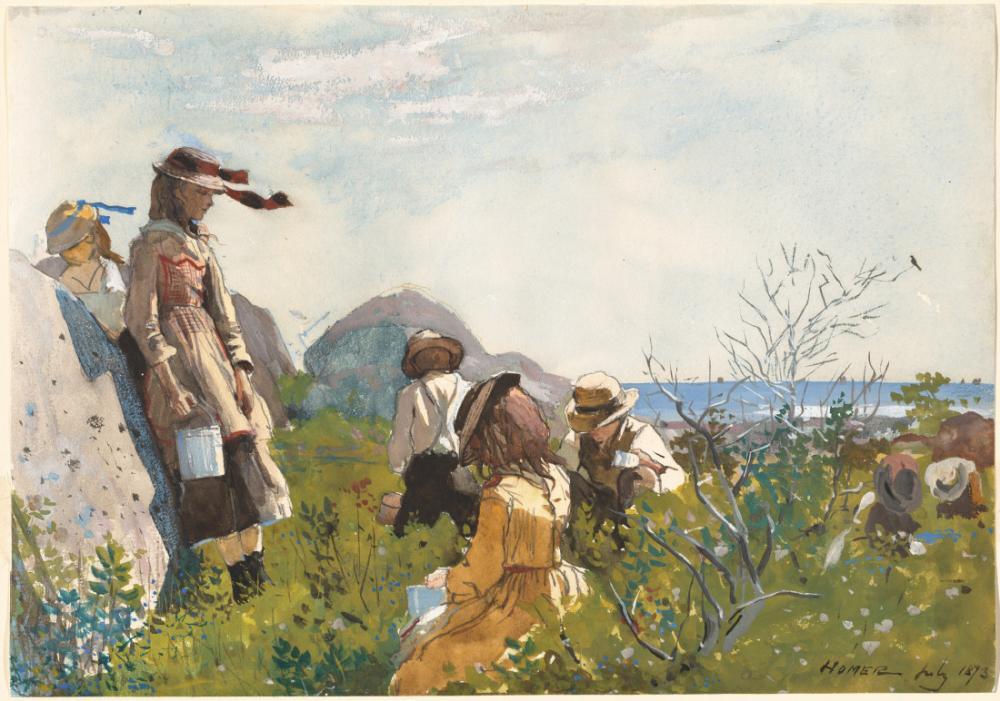 Ahududu Toplayıcıları, Winslow Homer, Kanvas Tablo, Winslow Homer