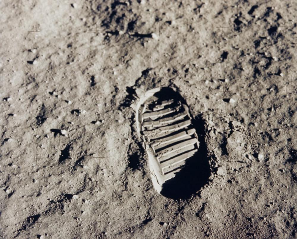 First footprint on lunar surface Poster, Scientifict, Poster Satış, all posters, kanvas tablo, canvas print sales