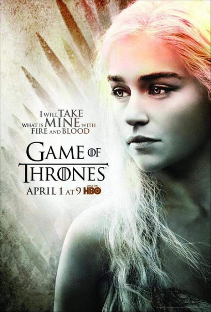 Game Of Thrones Daenerys Targaryen Poster 2, TV Series, Poster Satış, all posters, kanvas tablo, canvas print sales