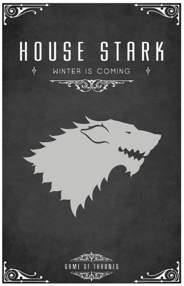 Game Of Thrones House Stark Posteri, Dizi, Poster Satış, all posters