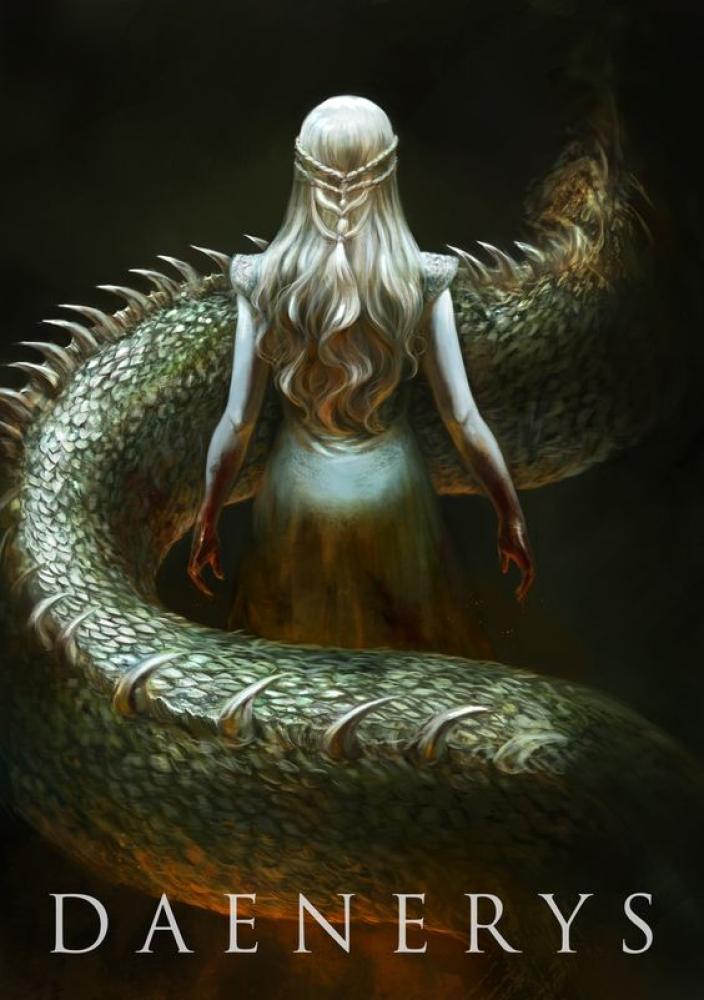 Game Of Thrones Khaleesi-Daenerys Targaryen Poster 7, TV Series, Poster Satış, all posters, kanvas tablo, canvas print sales