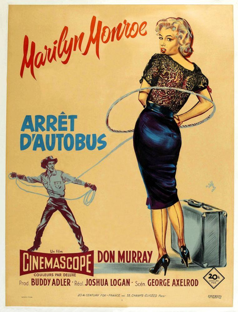 Marilyn Monroe, Bus Stop Movie Poster 1, Movie Poster, Poster Satış, all posters, kanvas tablo, canvas print sales
