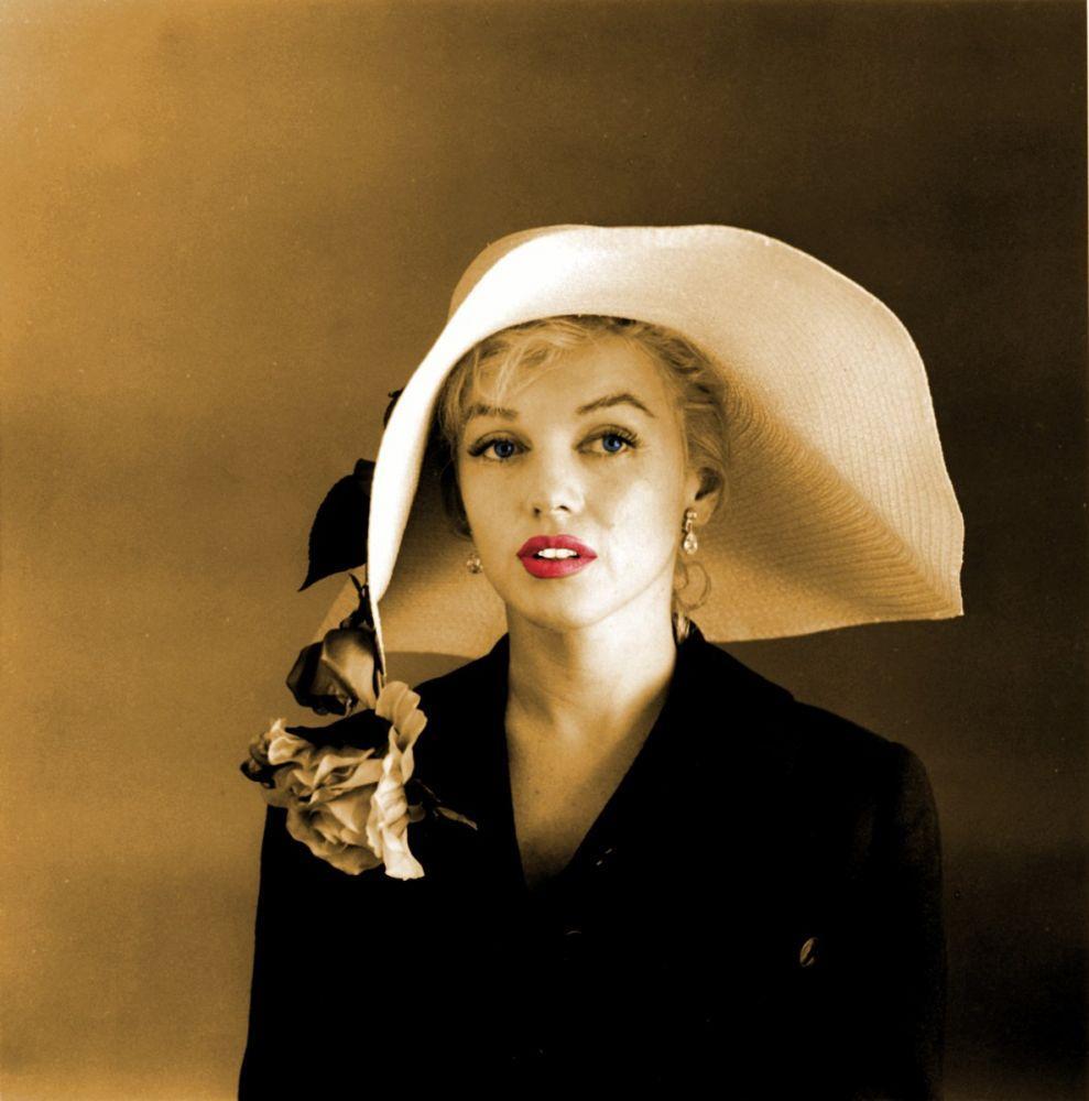 Marilyn Monroe With Hat, Marilyn Monroe, Poster Satış, all posters, kanvas tablo, canvas print sales