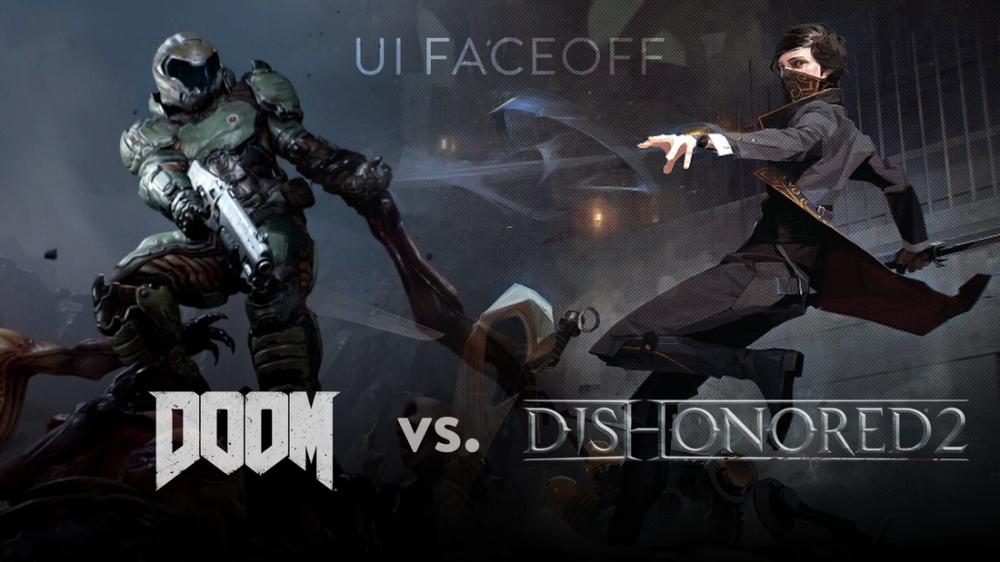 Doom vs dishonored 2 Game Poster, Game, Poster Satış, all posters, kanvas tablo, canvas print sales