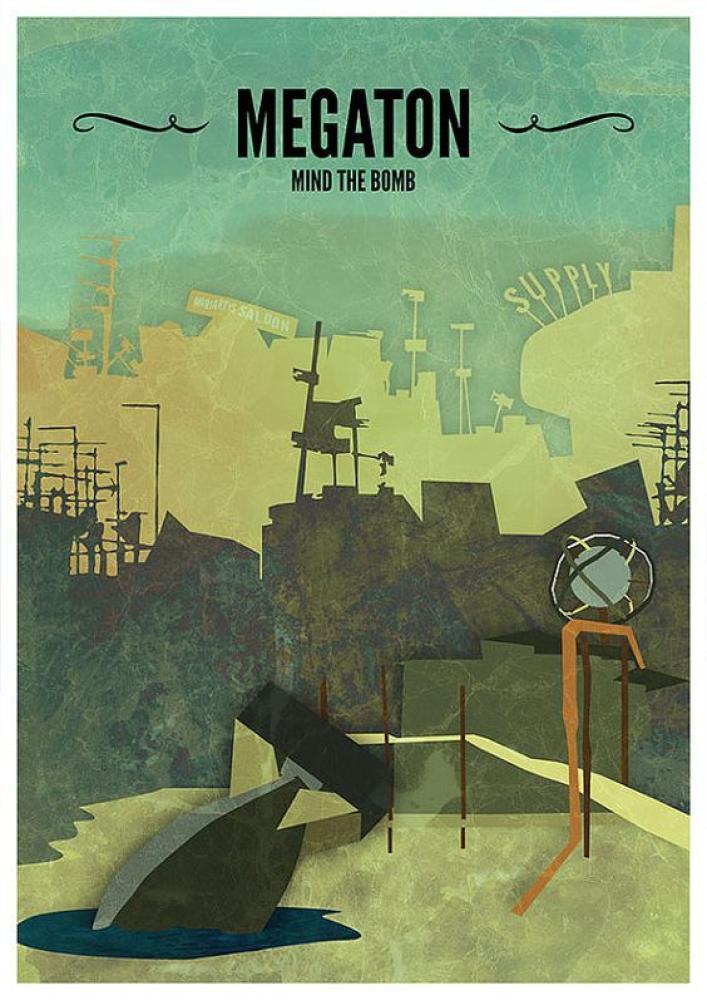 Fallout 3 Megaton Game Poster, Game, Poster Satış, all posters, kanvas tablo, canvas print sales