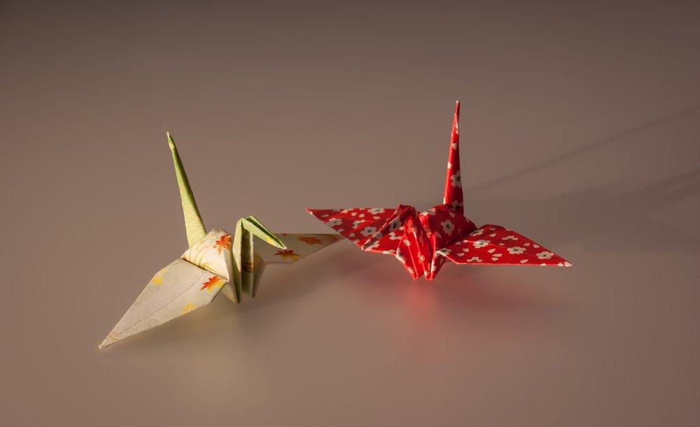 Cranes Made By Origami Poster, Animal, Poster Satış, all posters, kanvas tablo, canvas print sales