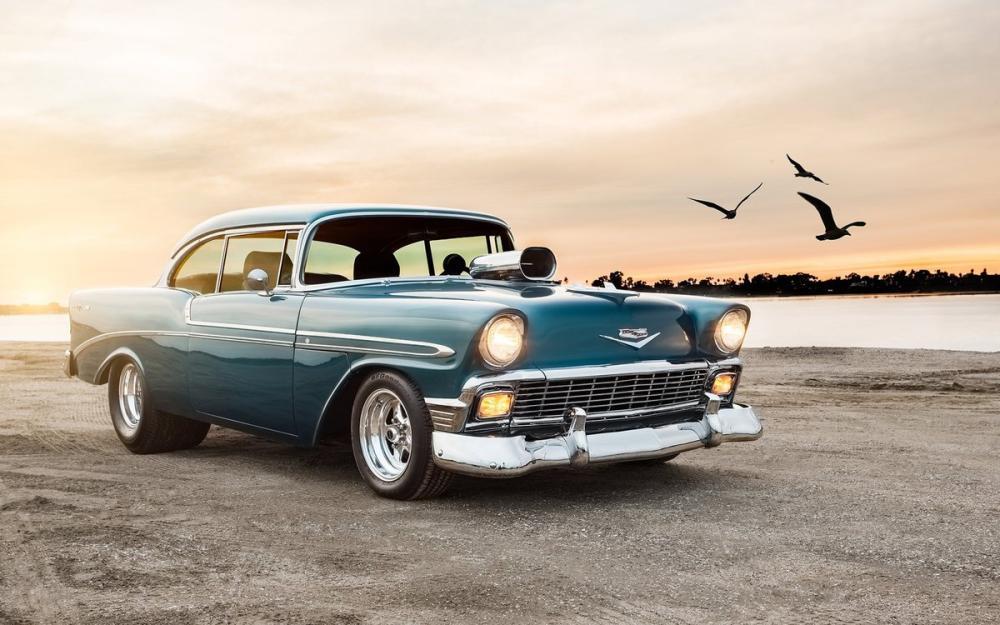 1956 Chevrolet Car Poster, Cars, Poster Satış, all posters, kanvas tablo, canvas print sales