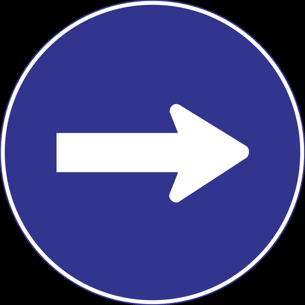 Zorunlu Yön Trafik Yol İşareti Posteri, Araba, Poster Satış, all posters