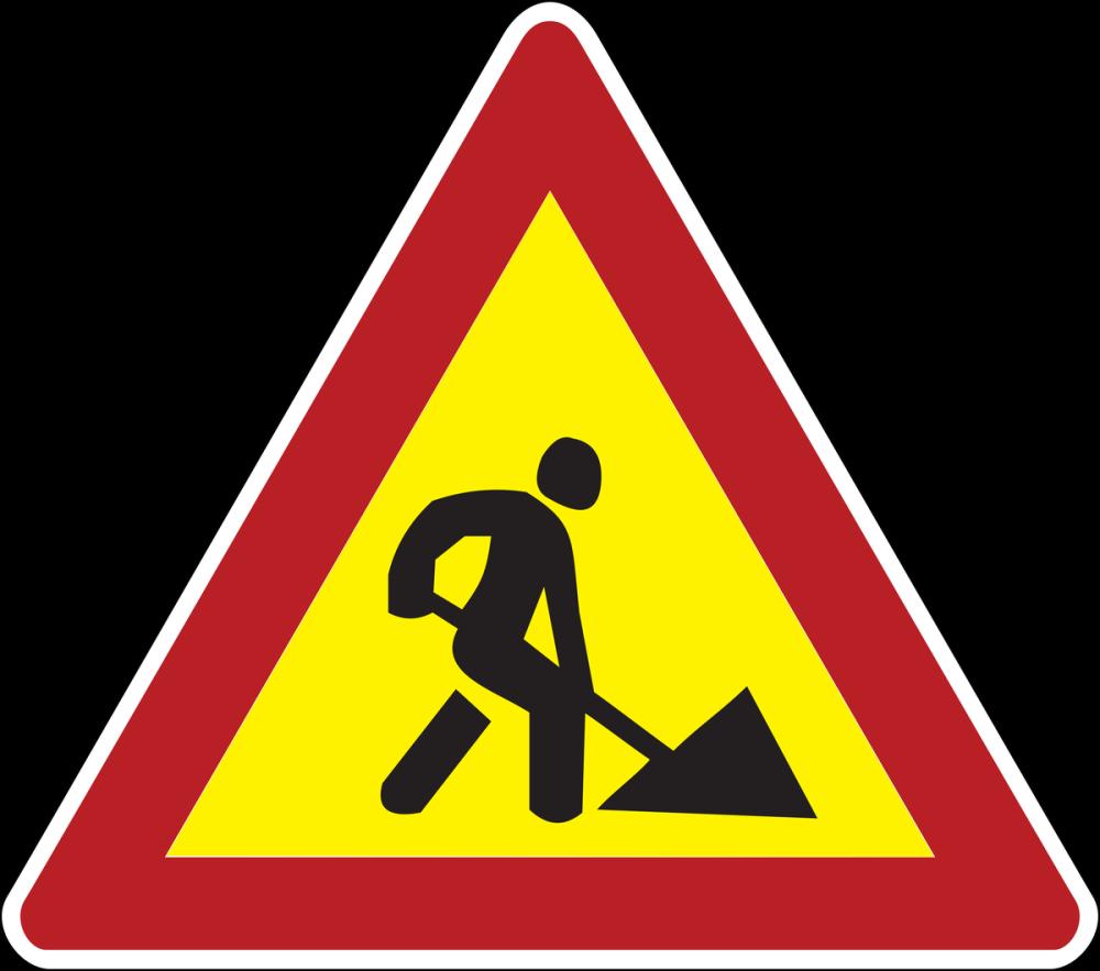 Road Maintenance Traffic Sign Poster, Cars, Poster Satış, all posters, kanvas tablo, canvas print sales