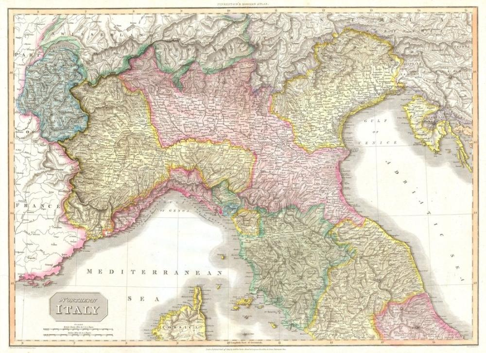 Map Of Northern Italy Cities.Northern Italy Tuscany Florence Venice Milano Map Poster
