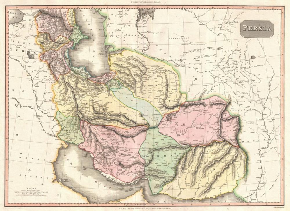 Persia Empire Map Poster, Map Posters, Poster Satış, all posters, kanvas tablo, canvas print sales