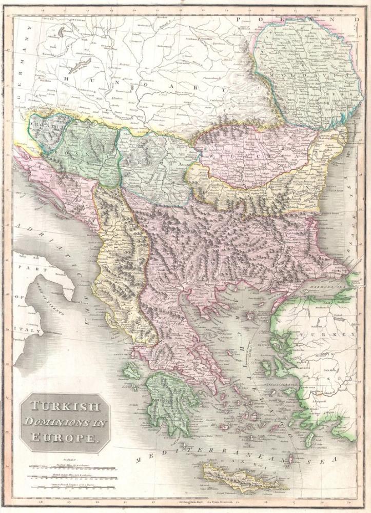 Ottoman Empire, Balkans Map Poster, Map Posters, Poster Satış, all posters, kanvas tablo, canvas print sales