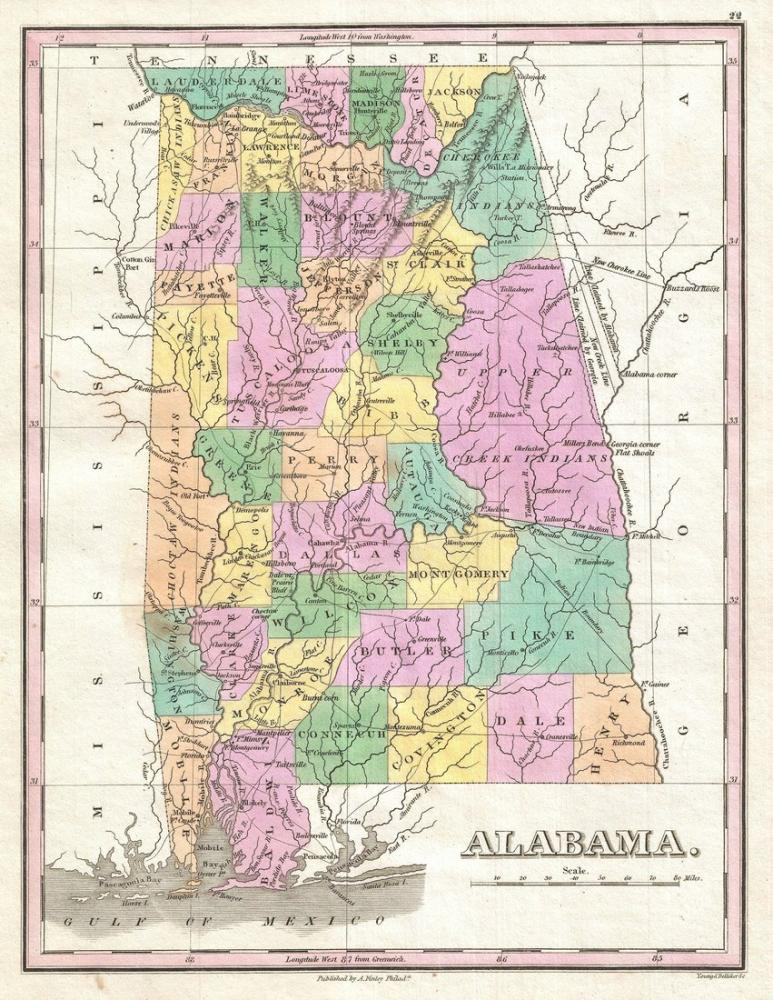 Alabama Map Poster Canvas Print Sales
