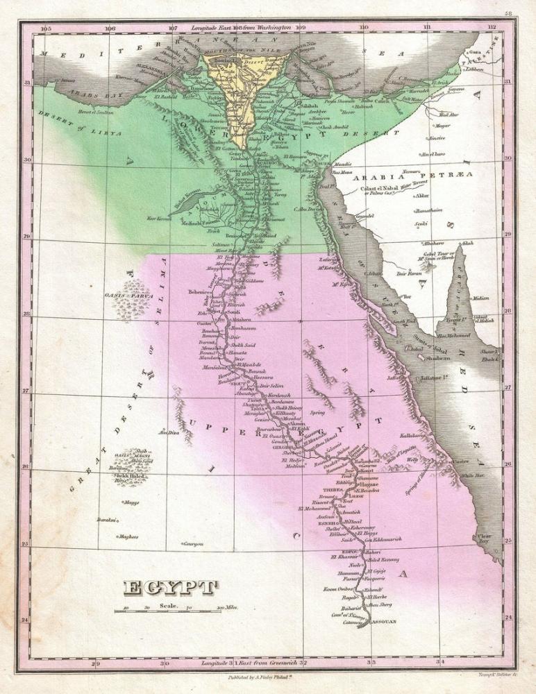 Eygpt 1827 Map Poster, Map Posters, Poster Satış, all posters, kanvas tablo, canvas print sales