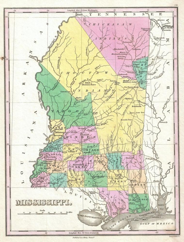 Mississippi Map Poster, Map Posters, Poster Satış, all posters, kanvas tablo, canvas print sales