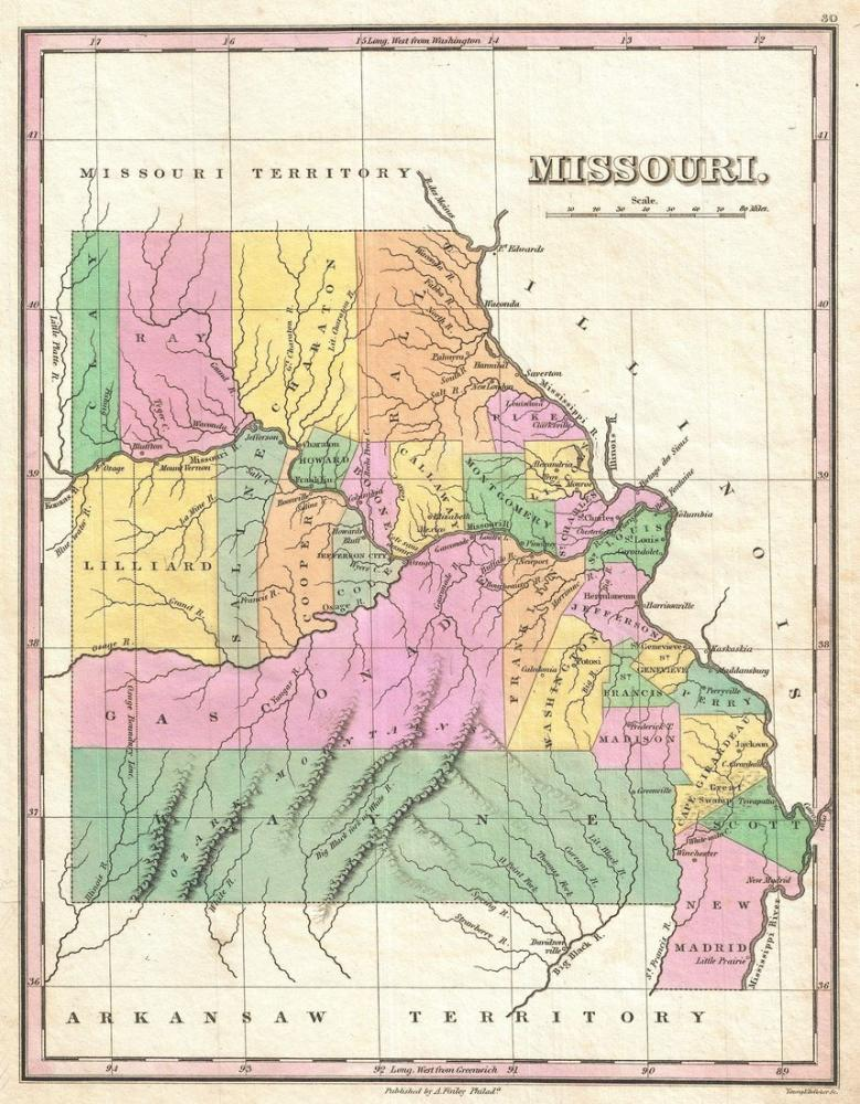 Missouri Map Poster Canvas Print Sales
