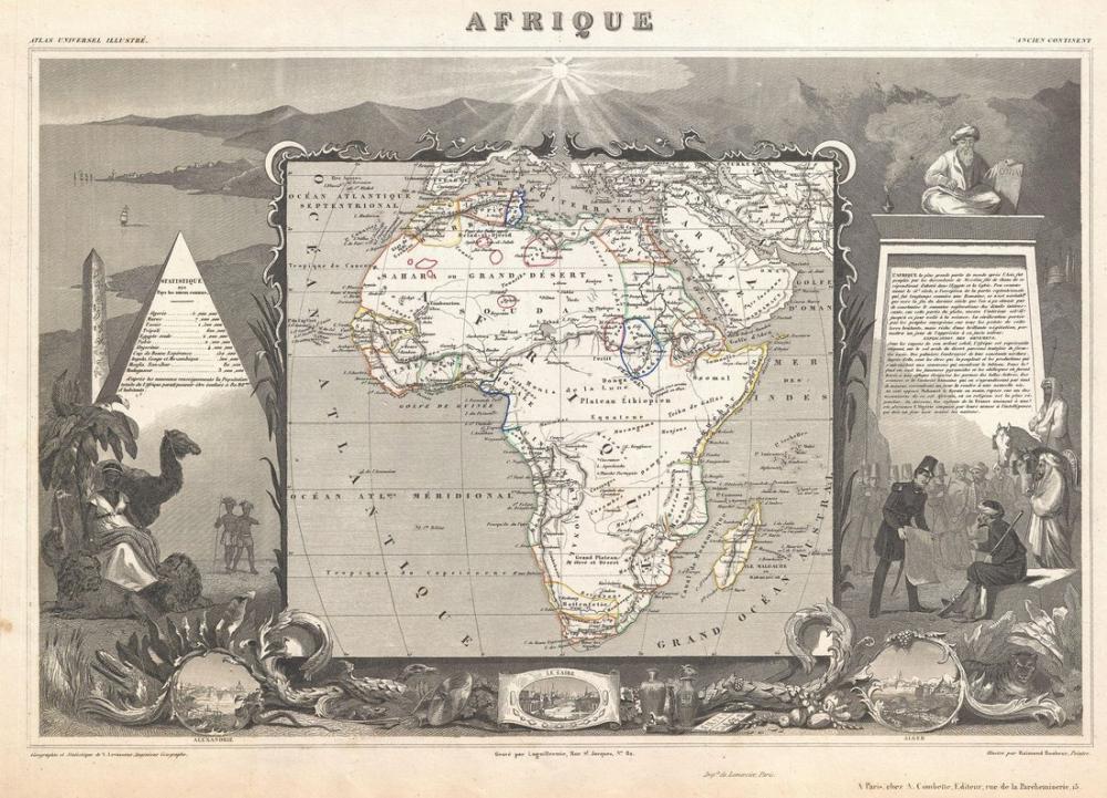 Afrika Antik Haritası Posteri, Harita, Poster Satış, all posters, kanvas tablo, canvas print sales