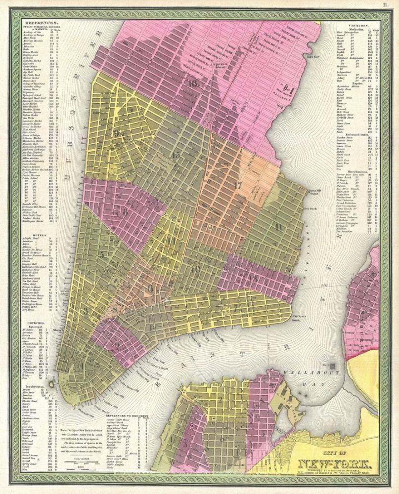 New York City Map Poster, Map Posters, Poster Satış, all posters, kanvas tablo, canvas print sales