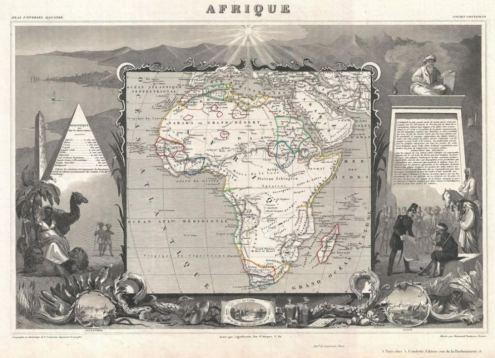 Africa 1852 Map Poster, Map Posters, Poster Satış, all posters, kanvas tablo, canvas print sales