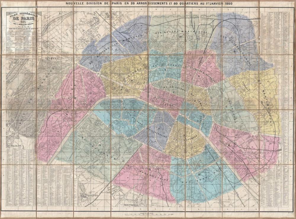 1860 Paris Map Poster, Map Posters, Poster Satış, all posters, kanvas tablo, canvas print sales