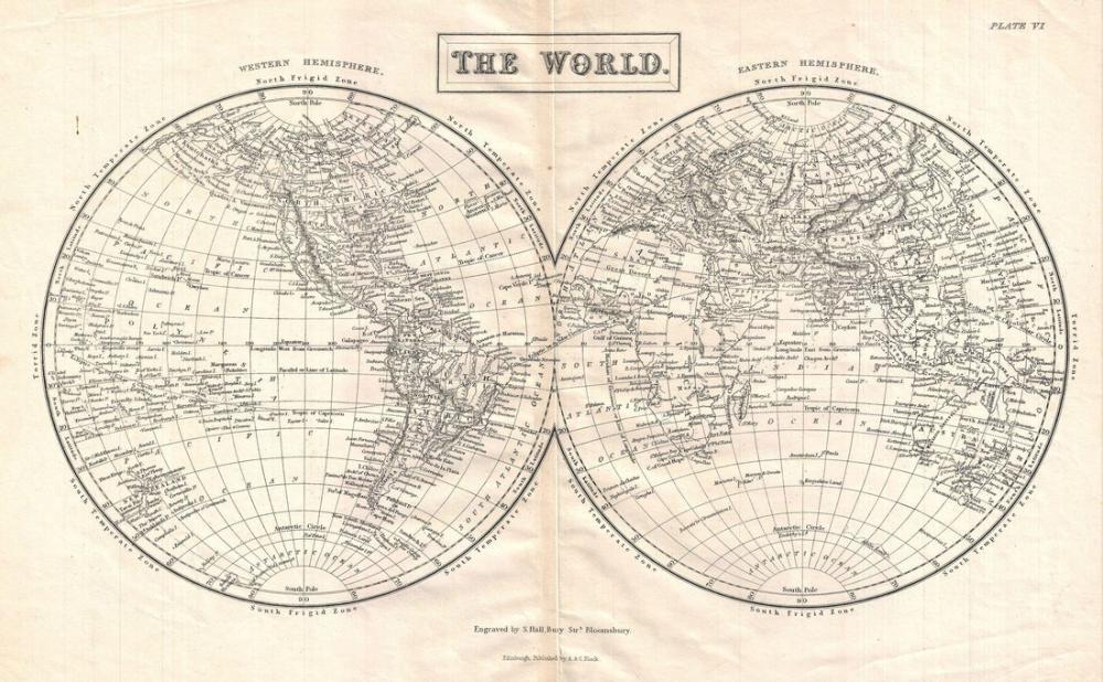 1860 World Map Poster, Map Posters, Poster Satış, all posters, kanvas tablo, canvas print sales