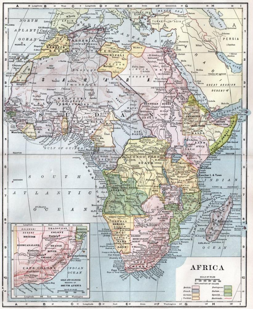 Afrika Haritası Posteri, Harita, Poster Satış, all posters, kanvas tablo, canvas print sales