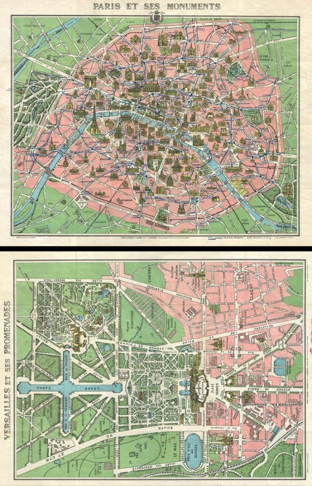 Paris Monuments Map Poster, Map Posters, Poster Satış, all posters, kanvas tablo, canvas print sales
