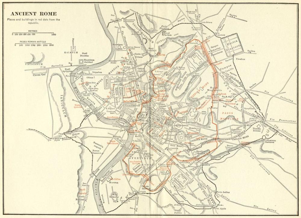 photograph regarding Printable Map of Ancient Rome named Historical Rome Map Poster