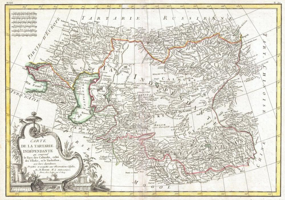 Central Asia Map Poster, Map Posters, Poster Satış, all posters, kanvas tablo, canvas print sales
