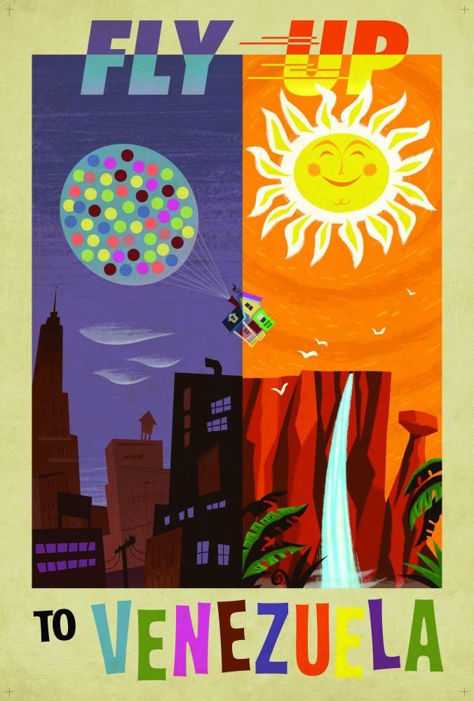 Fly Up to Venezuela, Movie Poster, Poster Satış, all posters, kanvas tablo, canvas print sales