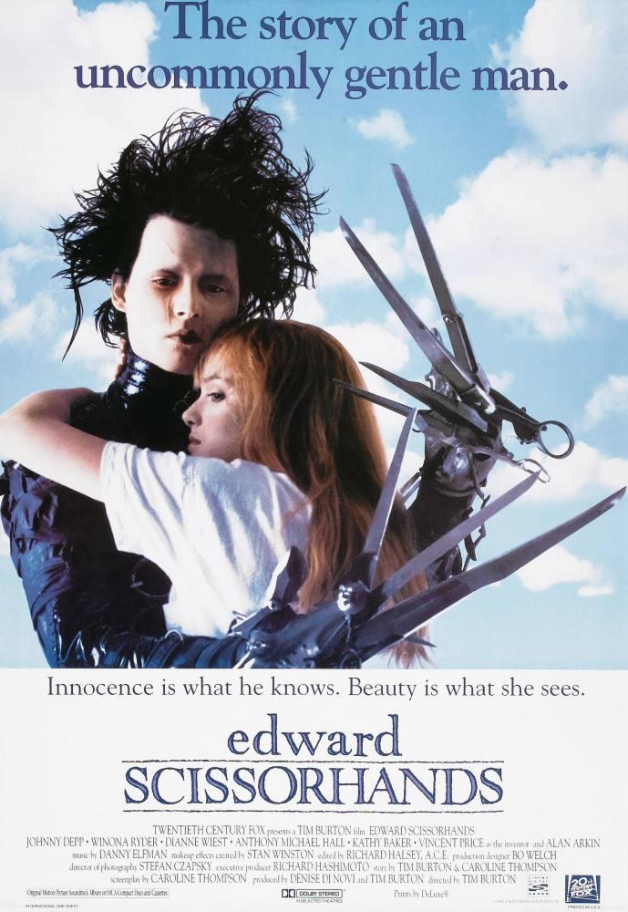 Edward Scissorhands Movie Poster, Movie Poster, Poster Satış, all posters, kanvas tablo, canvas print sales