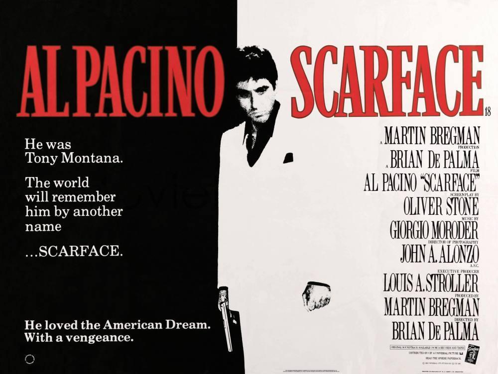 Scarface Movie Poster 2, Movie Poster, Poster Satış, all posters, kanvas tablo, canvas print sales