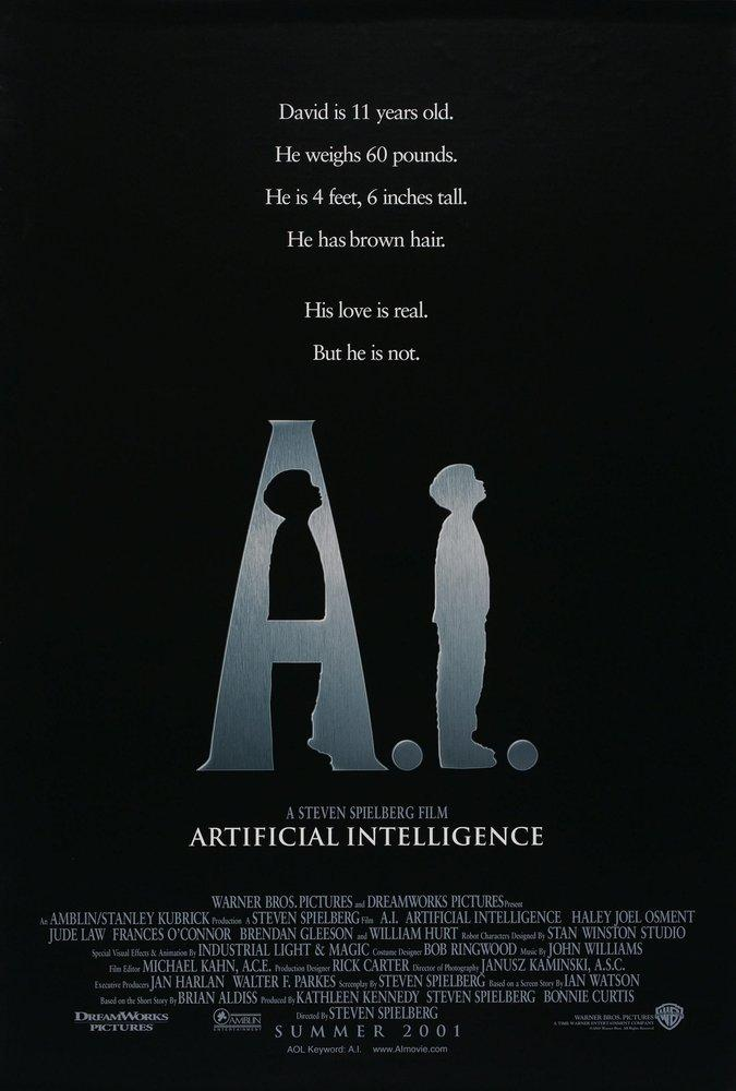 Artificial Intelligence Movie Poster, Movie Poster, Poster Satış, all posters, kanvas tablo, canvas print sales