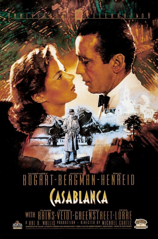 Casablanca Movie Poster, Vintage, Poster Satış, all posters, kanvas tablo, canvas print sales