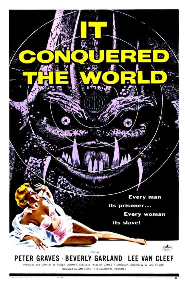 It Conquered the World Movie Poster, Vintage, Poster Satış, all posters, kanvas tablo, canvas print sales
