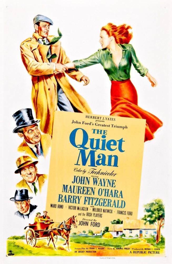 The Quiet Man Movie Poster, Vintage, Poster Satış, all posters, kanvas tablo, canvas print sales