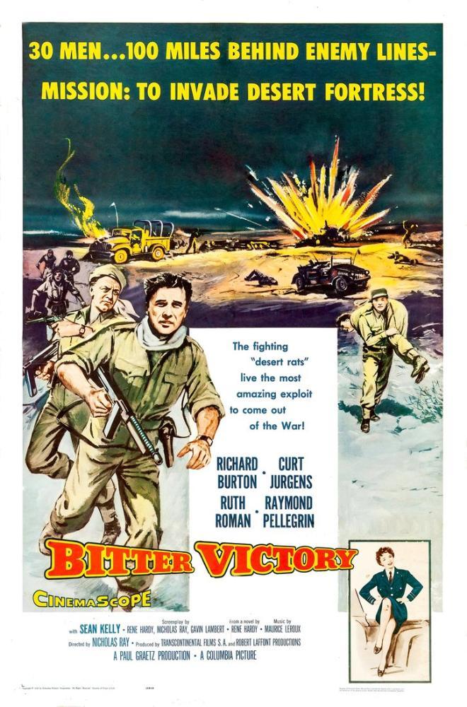 Bitter Victory Movie Poster, Vintage, Poster Satış, all posters, kanvas tablo, canvas print sales