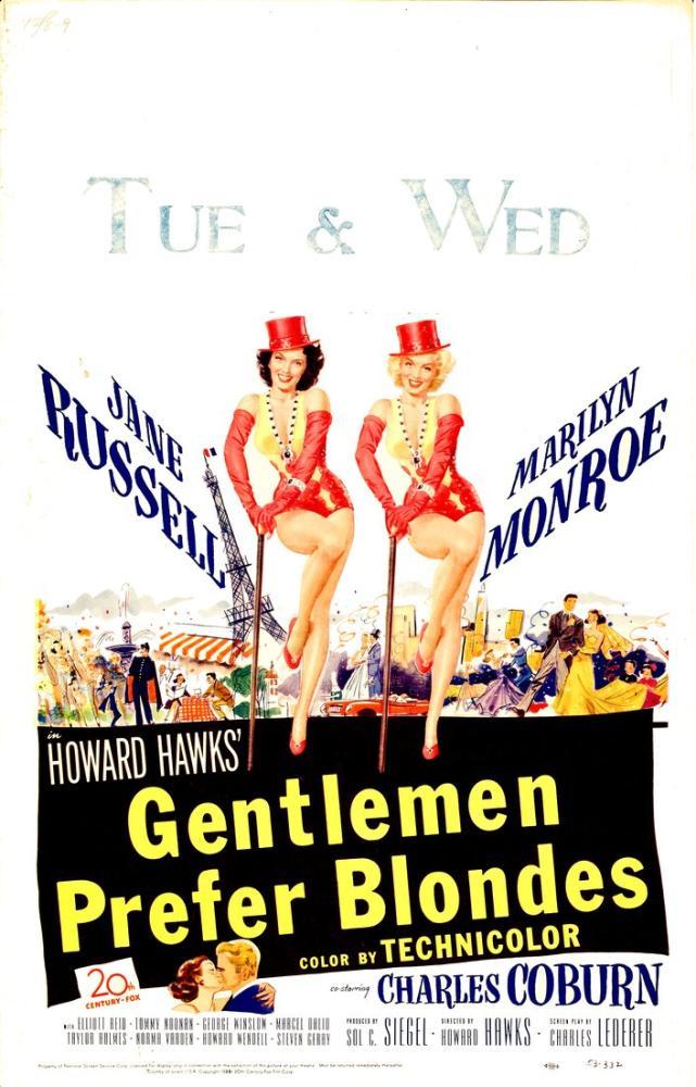 Gentlemen Prefer Blondes Movie Poster, Vintage, Poster Satış, all posters, kanvas tablo, canvas print sales