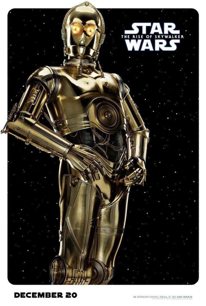 Star Wars C-3PO Robot Movie Poster, Movie Poster, Poster Satış, all posters, kanvas tablo, canvas print sales