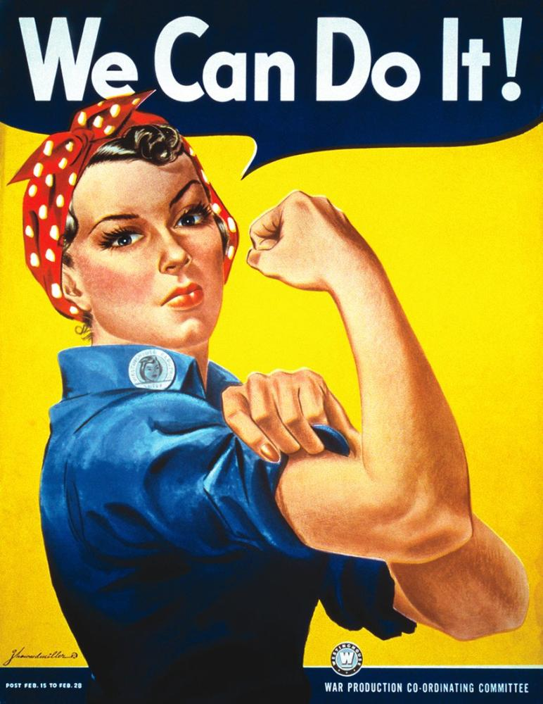 We Can Do It Rosie the Riveter Poster Vintage Poster, Vintage, Poster Satış, all posters, kanvas tablo, canvas print sales