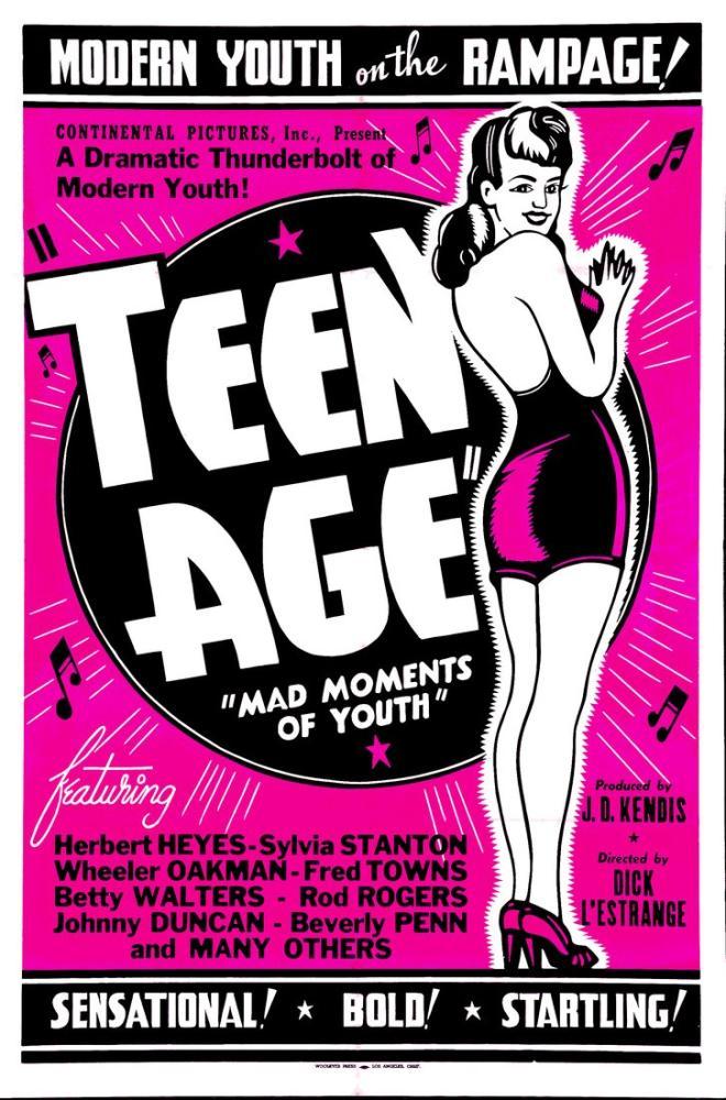 Teen Age Vintage Movie Poster, Vintage, Poster Satış, all posters, kanvas tablo, canvas print sales