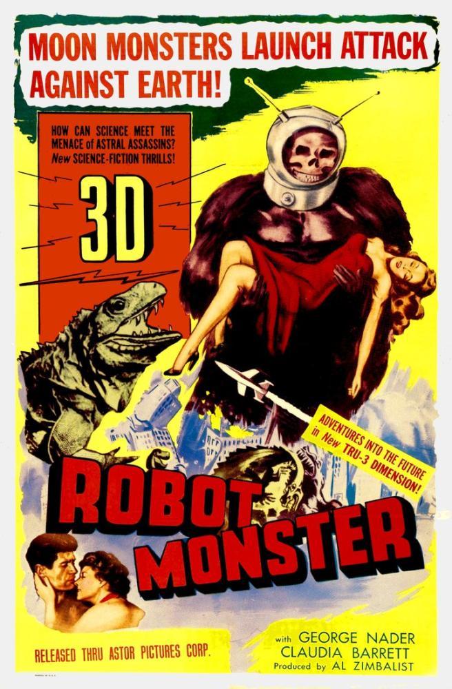 Robot Monster Vintage Film Posteri, Vintage, Poster Satış, all posters, kanvas tablo, canvas print sales