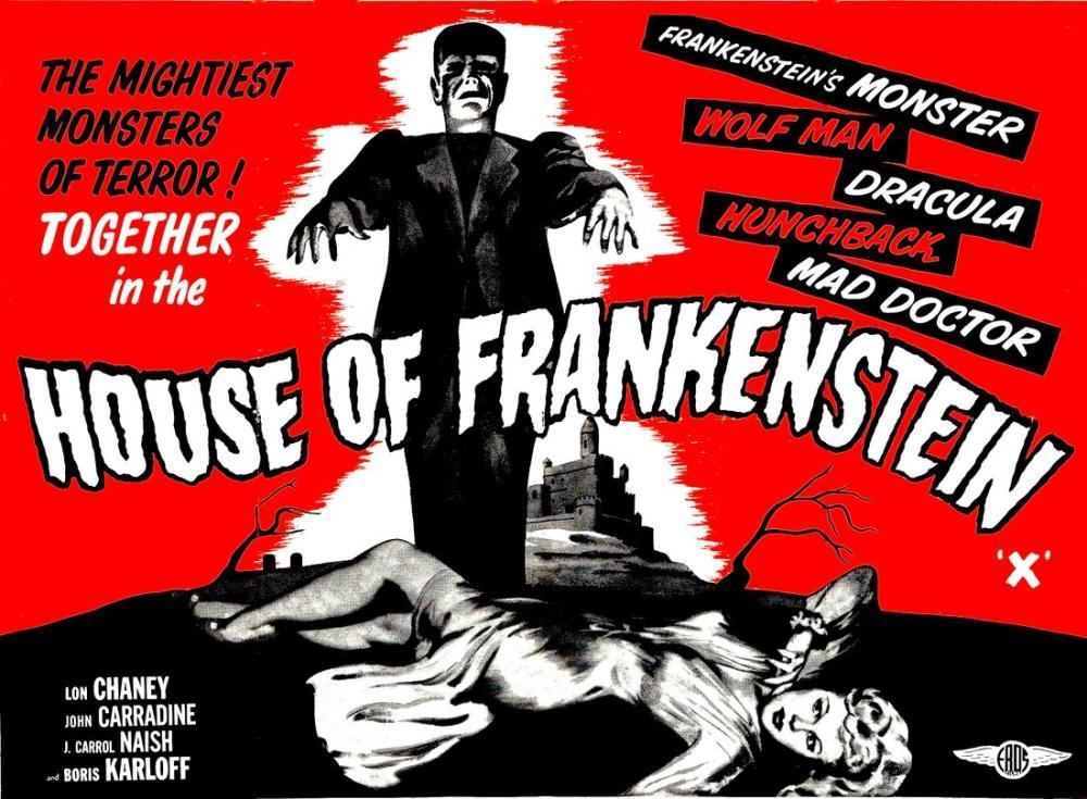 The House of Frankenstein Movie Poster, Movie Poster, Poster Satış, all posters, kanvas tablo, canvas print sales