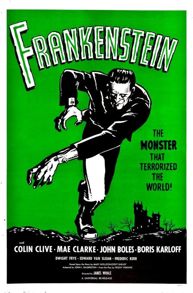 Frankenstein Movie Poster, Vintage, Poster Satış, all posters, kanvas tablo, canvas print sales