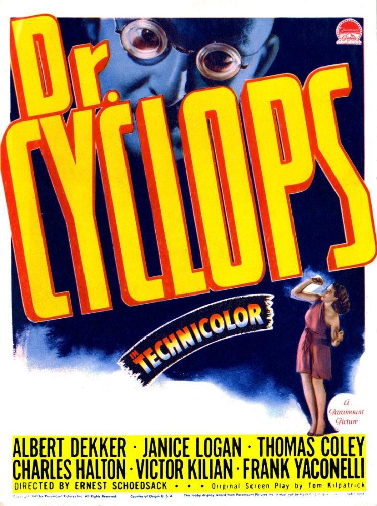Dr. Cyclops Framed Vintage Korku Film Posteri, Vintage, Poster Satış, all posters, kanvas tablo, canvas print sales