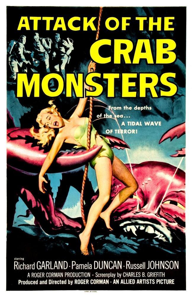 Attack of the Crab Monsters Film Posteri, Film Posteri, Poster Satış, all posters, kanvas tablo, canvas print sales