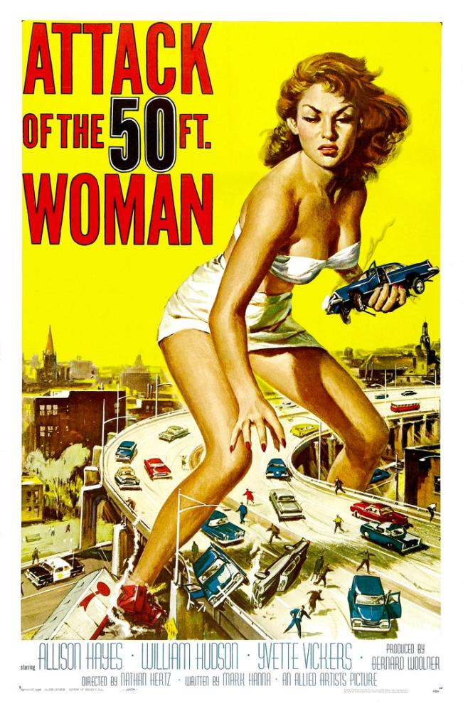 Attack of the 50 Foot Woman Movie Poster, Movie Poster, Poster Satış, all posters, kanvas tablo, canvas print sales