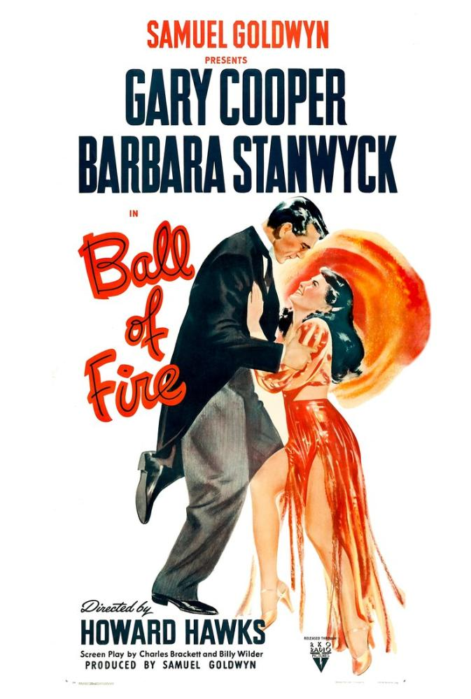 Ball of Fire Movie Poster, Vintage, Poster Satış, all posters, kanvas tablo, canvas print sales