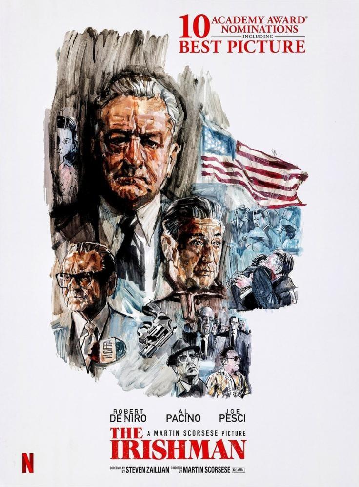 The Irishman Movie Poster, Movie Poster, Poster Satış, all posters, kanvas tablo, canvas print sales