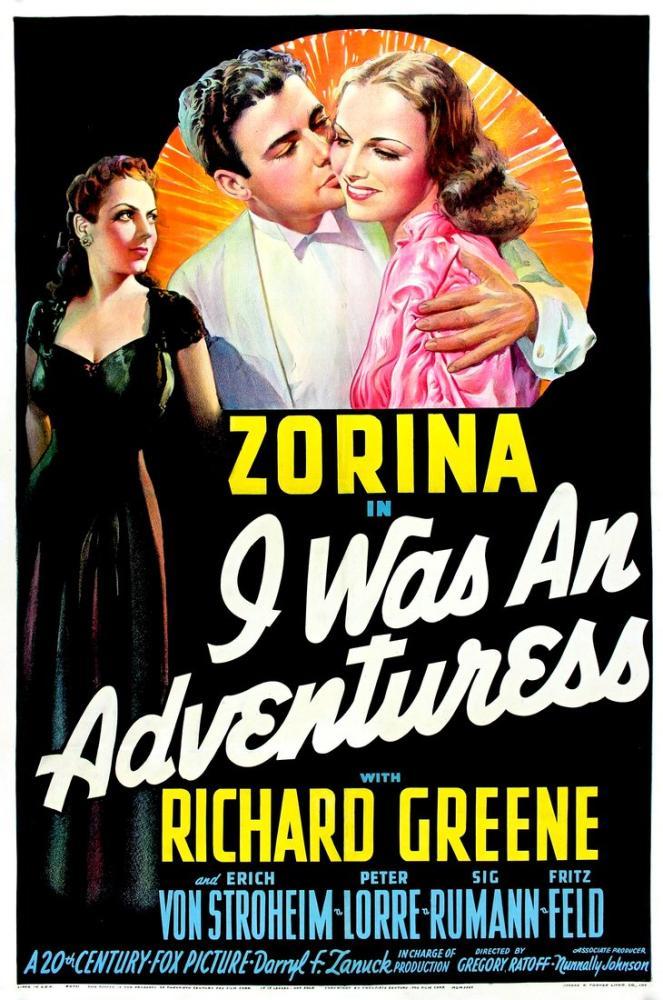 I Was an Adventuress Movie Poster, Movie Poster, Poster Satış, all posters, kanvas tablo, canvas print sales